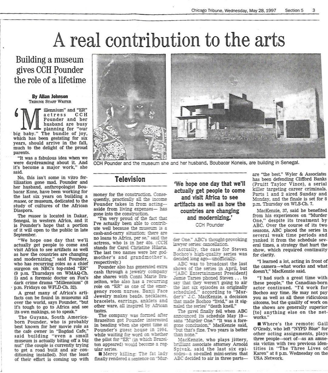 Chicago Tribune: May 28, 1997
