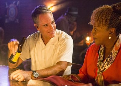 "Scott Bakula as Special Agent Dwayne Pride and CCH Pounder as Dr. Loretta Wade in ""NCIS New Orleans,"" (Photo by Skip Bolen-CBS)"