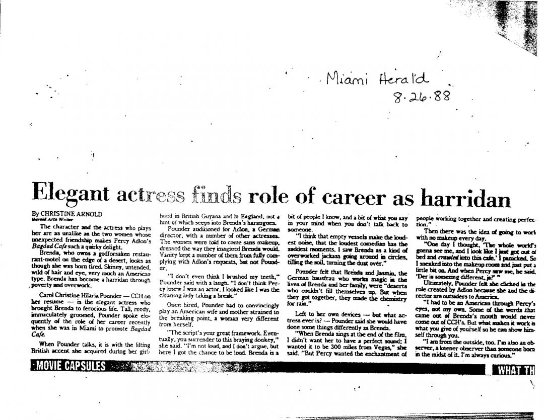 Miami Herald: August 26, 1988