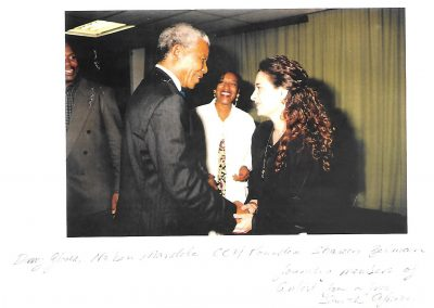 Nelson Mandela, CCH Pounder and Sharon Gelman of ANSA.