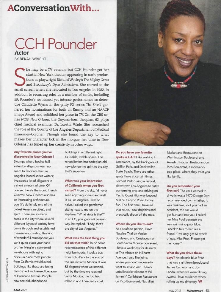 Westways Magazine: A Conversation With…CCH Pounder