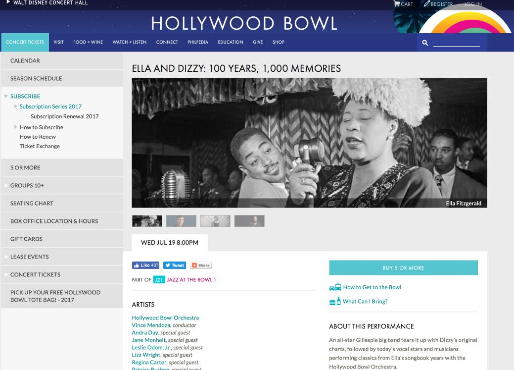 Hollywood Bowl: July 19, 2017
