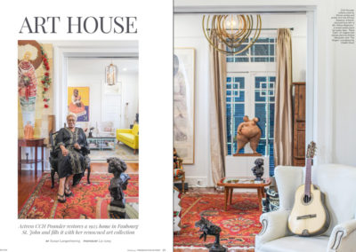 CCH Pounder Restores a 1925 Home & Fills it With Her Renowned Art Collection